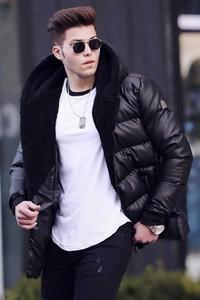 Czarna kurtka Duuf w stylu casual