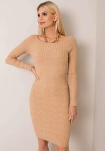 Sukienka Sheandher.pl dopasowana z długim rękawem mini