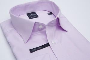 Różowa koszula Lanieri z tkaniny z kołnierzykiem button down z długim rękawem