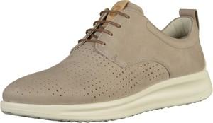 Buty sportowe Ecco z płaską podeszwą w sportowym stylu sznurowane