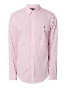 Różowa koszula POLO RALPH LAUREN z bawełny