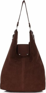 Torebki skórzane typu shopperbag firmy vittoria gotti czekoladowe