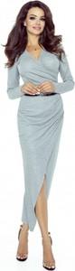Sukienka Bergamo w stylu casual z dekoltem w kształcie litery v z długim rękawem