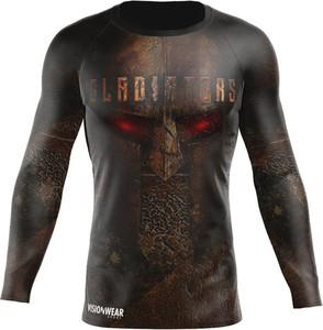 Czarna koszulka z długim rękawem Vision Wear Sport z tkaniny z długim rękawem