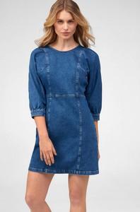 Niebieska sukienka ORSAY mini w stylu casual z długim rękawem