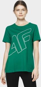 T-shirt 4F z okrągłym dekoltem z krótkim rękawem w stylu casual