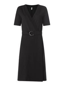 Czarna sukienka Soyaconcept z krótkim rękawem