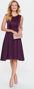 Sukienka Top Secret mini z okrągłym dekoltem rozkloszowana