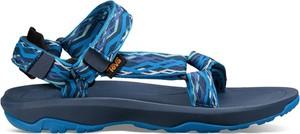 Niebieskie sandały Teva w stylu casual z płaską podeszwą