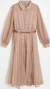 Brązowa sukienka Reserved w stylu casual