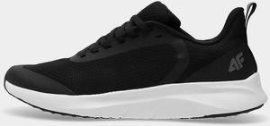 Czarne buty sportowe 4F z płaską podeszwą sznurowane