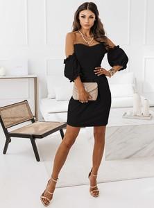 Sukienka Pakuten hiszpanka z długim rękawem mini