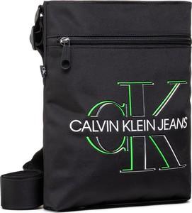 Czarna saszetka Calvin Klein ze skóry