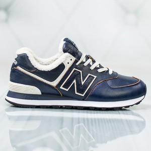 Czarne buty sportowe New Balance 574 sznurowane