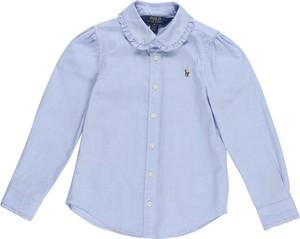 Niebieska koszula dziecięca POLO RALPH LAUREN z bawełny