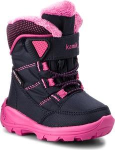 Różowe buty dziecięce zimowe Kamik