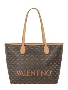 Brązowa torebka Valentino by Mario Valentino w młodzieżowym stylu duża na ramię