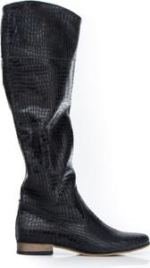 Kozaki Zapato z płaską podeszwą na zamek
