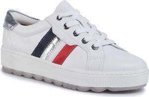 Buty sportowe eobuwie.pl sznurowane z płaską podeszwą
