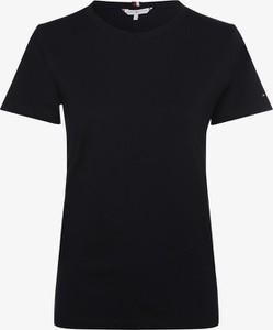 Granatowy t-shirt Tommy Hilfiger z bawełny z okrągłym dekoltem