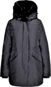 Granatowa kurtka Woolrich z bawełny
