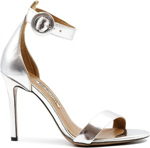 Srebrne sandały Neścior ze skóry