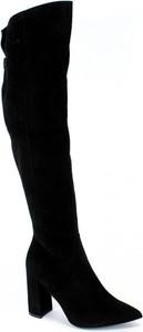 Kozaki Sala ze skóry za kolano