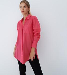 Różowa koszula Mohito w stylu casual z kołnierzykiem