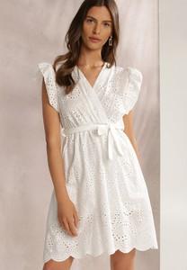Sukienka Renee z krótkim rękawem z dekoltem w kształcie litery v kopertowa