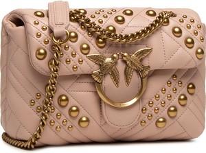 Brązowa torebka Pinko ze skóry mała