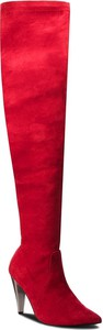 Czerwone kozaki Solo Femme za kolano
