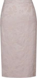 Różowa spódnica Fokus z szyfonu w stylu klasycznym midi