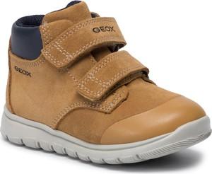 Żółte buty dziecięce zimowe Geox