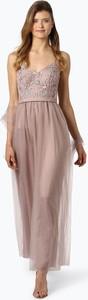 Różowa sukienka Laona z tiulu bez rękawów maxi