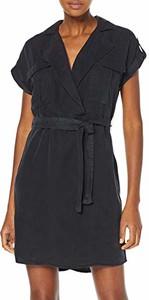 Sukienka amazon.de z krótkim rękawem z dekoltem w kształcie litery v kopertowa