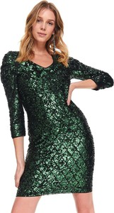 Sukienka Top Secret z dekoltem w kształcie litery v z długim rękawem