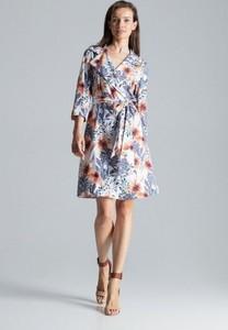 Sukienka Figl koszulowa z długim rękawem