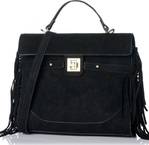 Czarna torebka Monnari z zamszu