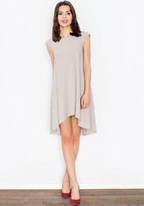Sukienka Figl mini z krótkim rękawem asymetryczna