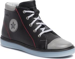 Czarne buty dziecięce zimowe RenBut