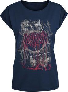 T-shirt Emp w młodzieżowym stylu z okrągłym dekoltem z nadrukiem