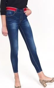 Niebieskie spodnie Top Secret w street stylu z jeansu