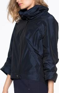 Granatowa kurtka POTIS & VERSO krótka w stylu casual