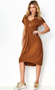 Sukienka Makadamia z krótkim rękawem midi