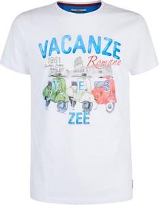 T-shirt Yes Zee z bawełny w młodzieżowym stylu z krótkim rękawem