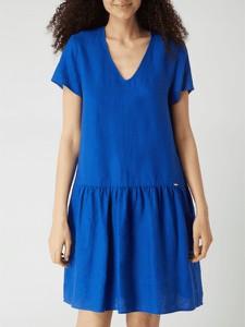Sukienka Cinque mini z dekoltem w kształcie litery v z krótkim rękawem