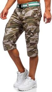 Spodenki Denley w militarnym stylu z bawełny