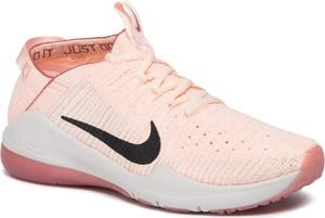 Różowe buty sportowe Nike zoom sznurowane z płaską podeszwą