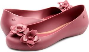 Różowe baleriny Zaxy w stylu boho z płaską podeszwą