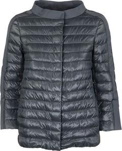 Niebieska kurtka Herno w stylu casual z jedwabiu
